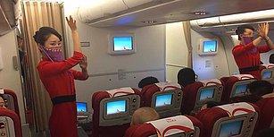 Çin'den Türkiye'ye İlk Seferini Yapan Havayolunun Hostesleri Türk Hava Sahasına Girince Peçe Takıp Dans Etti