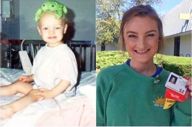 """10. """"20 yıl önce kanserden kurtulduğum hastanede hemşire oldum."""""""