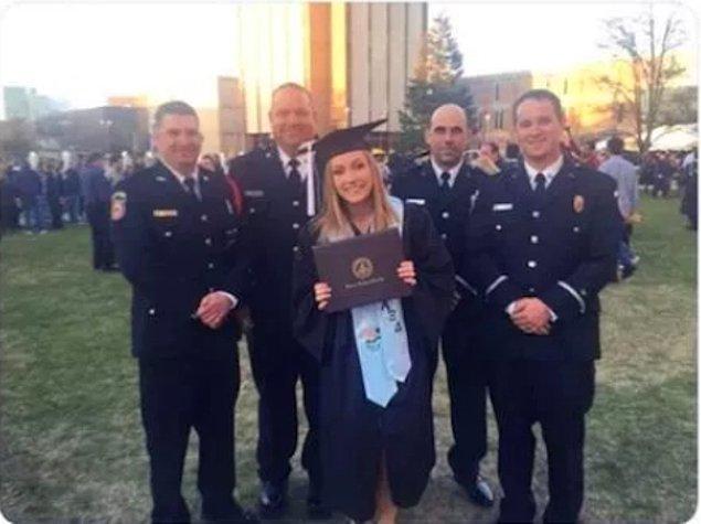 """13. """"10 ay önce gittiği görevde öldürülen babamın iş arkadaşları mezuniyetimde sürpriz yaptı."""""""