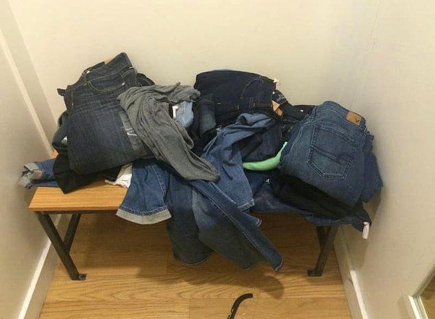 """5. Ve eğer """"Orası zaten dağınık, bir pantolon fazla olsa ne olacak?"""" diye düşünüyorsanız da bu düşünceden vazgeçin."""