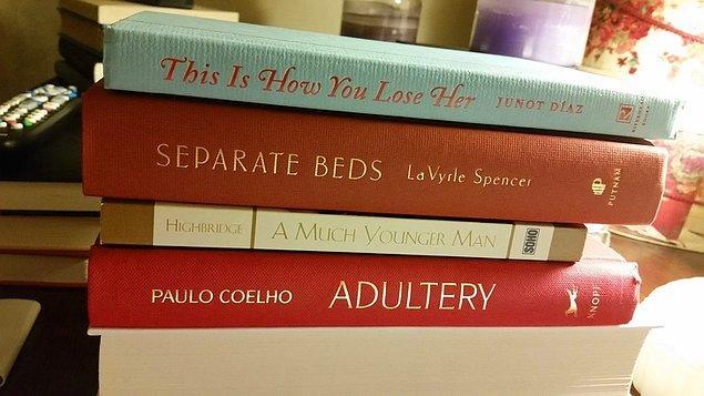 """10. """"Eşimin roman zevki beni endişelendirmeye başladı."""""""