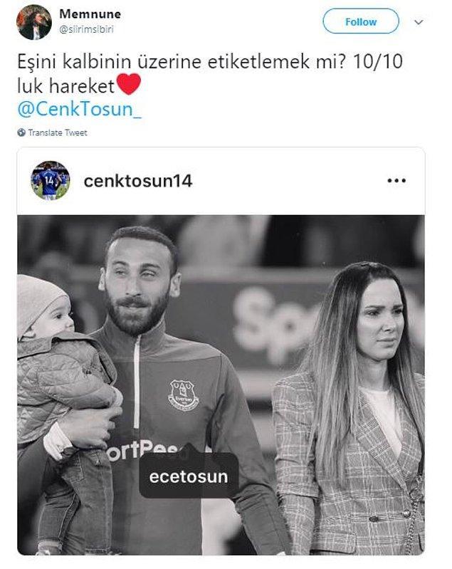 Belki biliyorsunuzdur... Cenk Tosun her fotoğrafında eşi Ece Tosun'u kalbine etiketliyor...