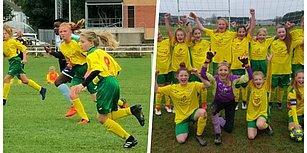 Tamamının Kızlardan Oluştuğu Futbol Takımı İngiltere'de Bir İlke İmza Attı, Erkekler Ligini Kazandı!