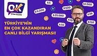 """Türkiye'nin En Çok Ödül Dağıtan Bilgi Yarışması """"Oyna Kazan"""" Aynı Yarışmada İki Kez Kazandırıyor!"""