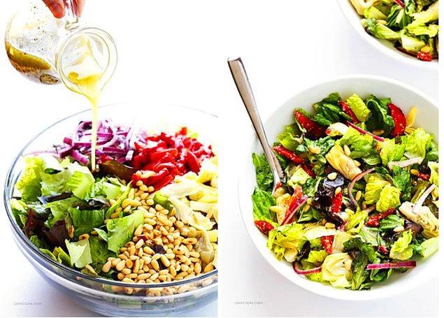 4. Bir de salatamız: