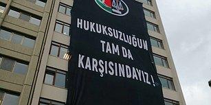 Ankara Barosu'ndan Karşı Binadaki YSK'ya Pankartlı Mesaj: 'Hukuksuzluğun Tam Karşısındayız'