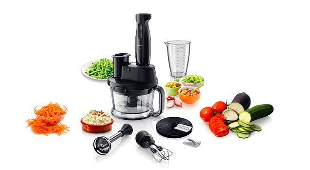 8. Mikser ve mutfak robotu aksesuarlarıyla harikalar yaratacağı bu süper el blender'ı