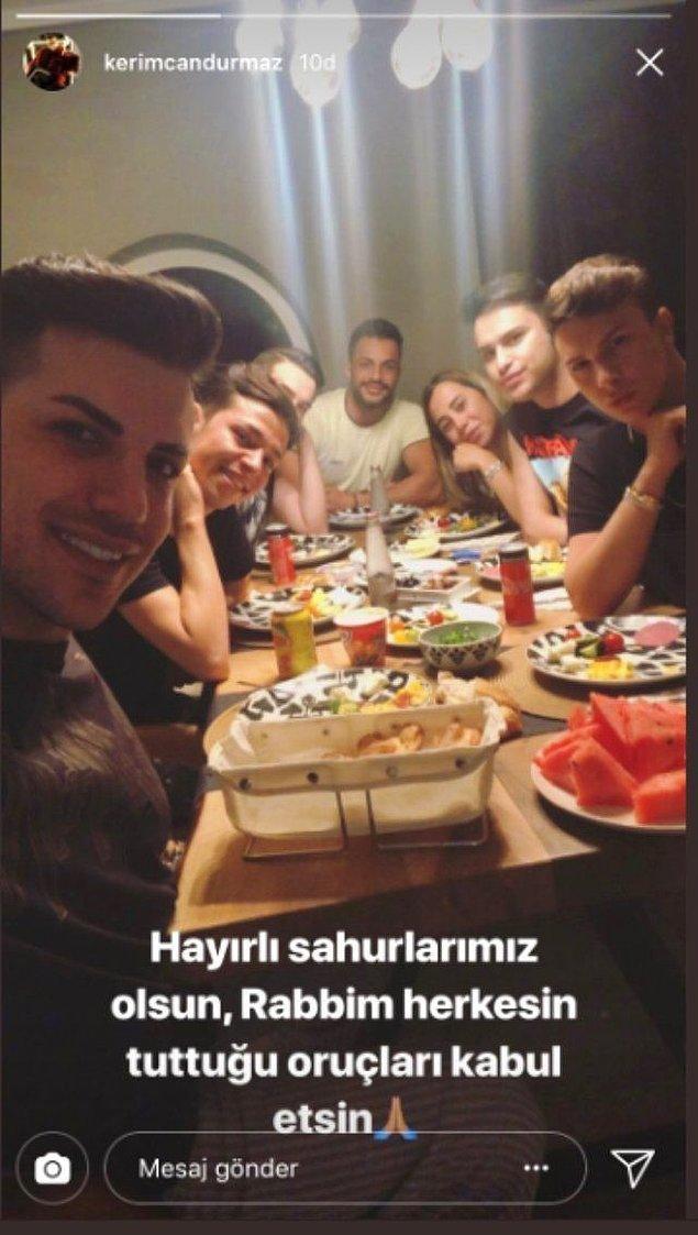 Tüm bu olaylar karşısında çektiği videonun ardından sessizliğe gömülen Kerimcan Durmaz, yaptığı bu paylaşımla da epey eleştirilmişti.