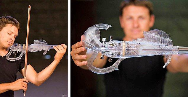 Bu kemanın 3D baskıyla yapıldığına inanmak zor.
