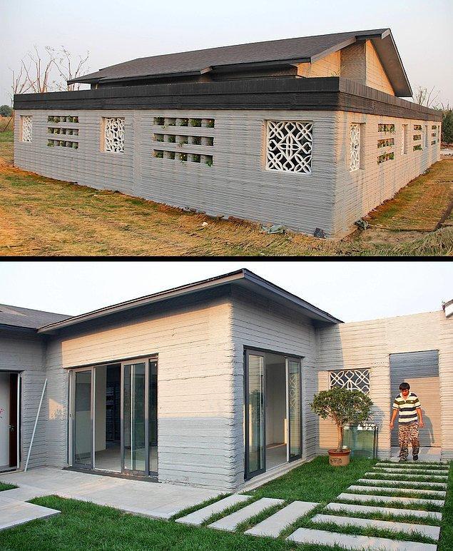 Ve tamamen 3D baskı ile yapılan yaşamaya hazır villa!