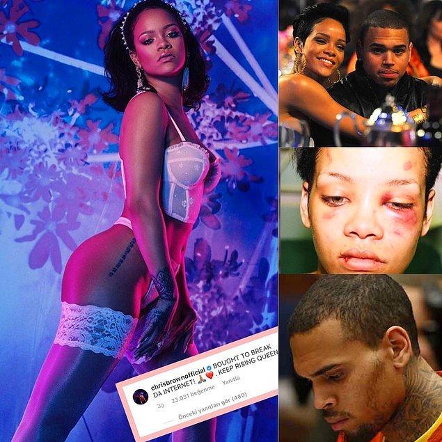 4. Peki, Chris Brown kişisinin hâlâ utanmadan Rihanna'ya yürümesine ne diyorsunuz?