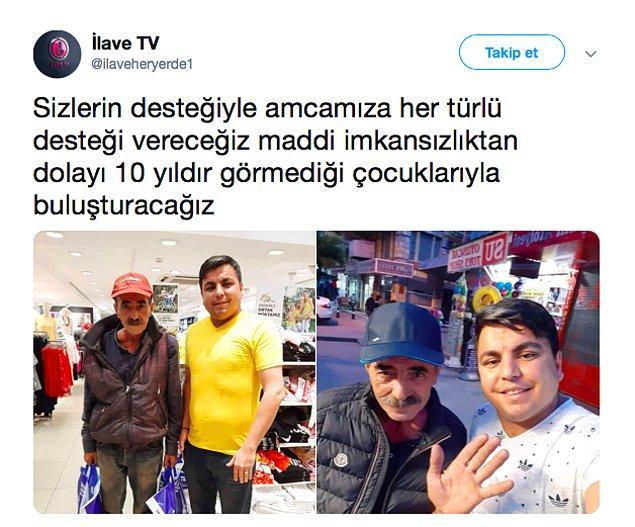 Röportaj gündem olduktan kısa süre sonra İlave TV ve sosyal medya kullanıcılarının desteğiyle amcamıza yardım yapıldı.