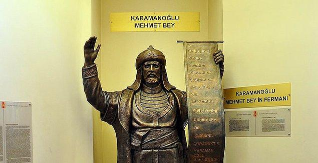 1277 - Karamanoğlu Mehmet Bey, Konya şehrini Karamanoğulları topraklarına kattı ve Türkçeyi resmi dil ilan etti.