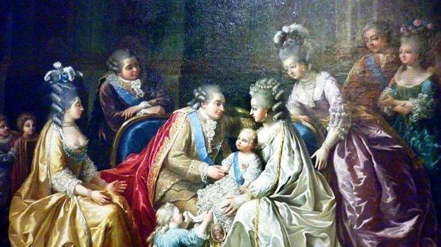 1770 - Versailles Sarayı'ında, XVI. Louis ile Marie Antoinette evlendi.