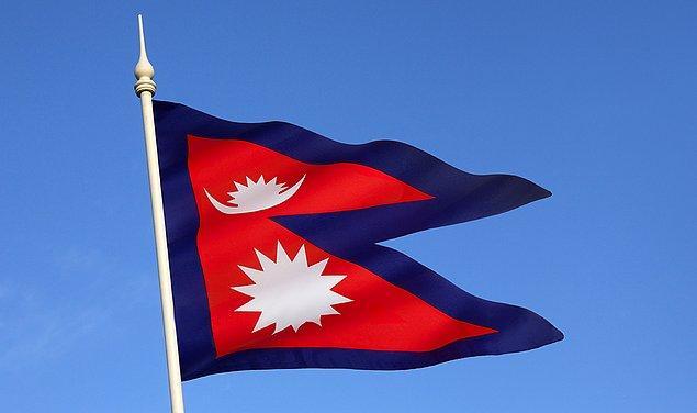 9. Nepal dünyanın en matematiksel bayrağına sahiptir.