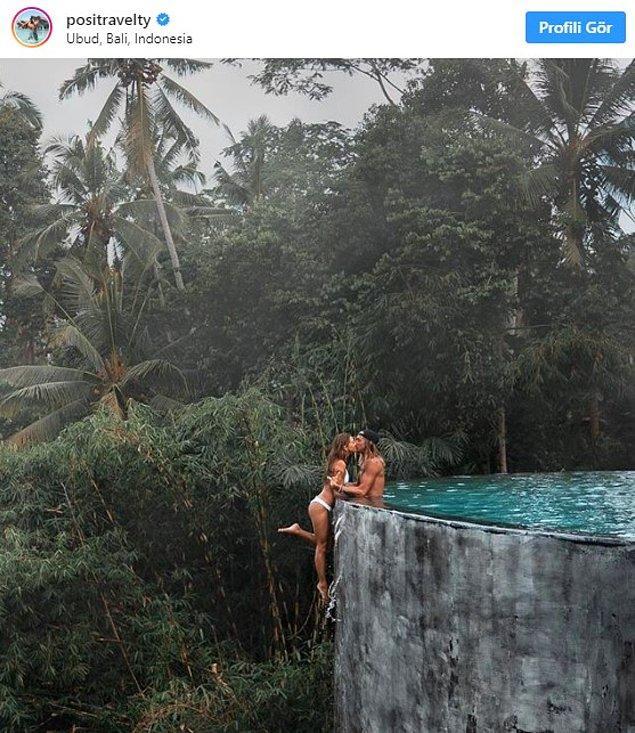 Kelly Castille ve Kody Workman, Instagram'da bu ayın başlarında bir fotoğraf paylaştılar. Paylaştıkları fotoğrafta Workman, sevgilisini havuzun yanında büyük bir uçurumun üstünde tutuyor ve aynı zamanda öpüyordu.