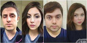 Snapchat'in Yeni Cinsiyet Değiştirme Filtresiyle Bambaşka Birine Dönüşerek Şaşırtan İnsanlar