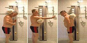'İnsan Yıkama Makinesi' ile Duş Alma Derdine Son Veren Mucit!