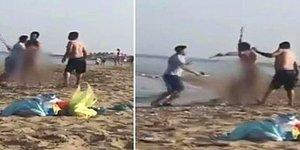 Plajda Çıplak Gezen Adama Meydan Dayağı Attılar!