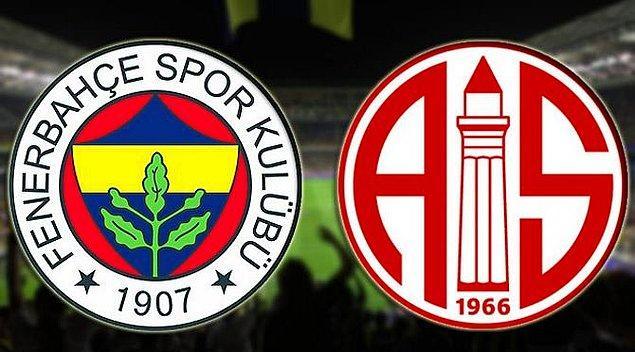 Ligin son haftasında Fenerbahçe, Antalyaspor'u yenerse ve Alanyaspor veya Konyaspor'dan biri son hafta puan kaybederse Fenerbahçe ligi 6.sırada bitiriyor.