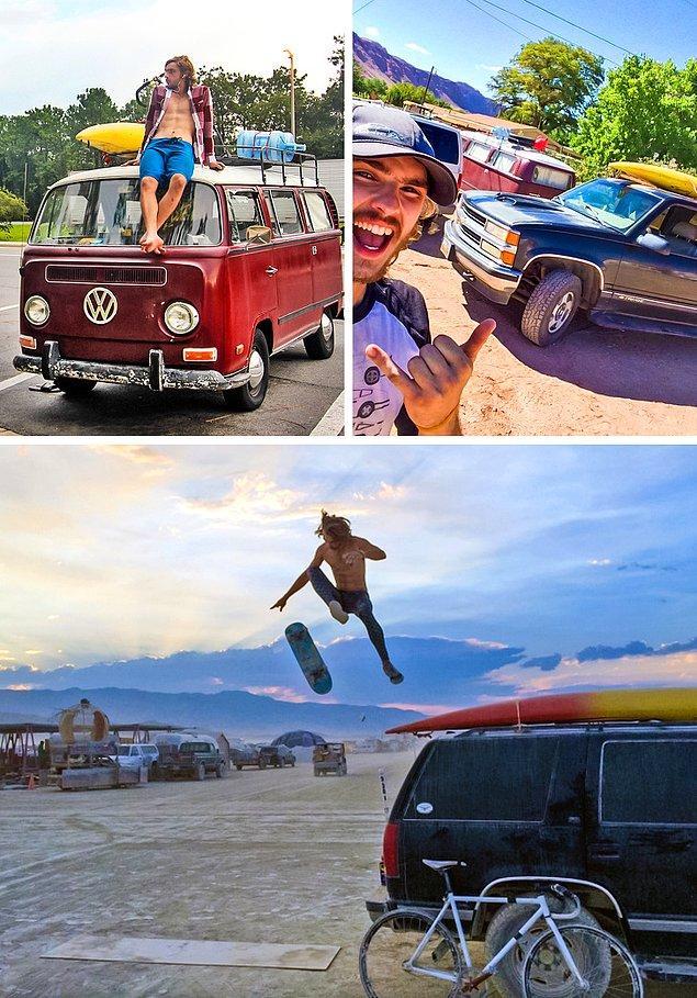 """5. """"Başardım! İşi bıraktım, Volkswagen bir minibüs aldım ve Burning Man'e gittim."""""""
