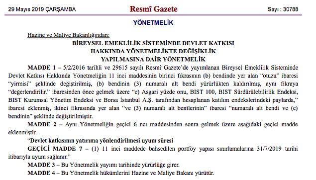 """""""BIST 100 , BIST Sürdürülebilirlik Endeksi, BIST Kurumsal Yönetim Endeksi ve Borsa İstanbul A.Ş. tarafından hesaplanan katılım endekslerindeki paylarda"""" ifadesine """"asgari yüzde 10'u"""" ifadesi eklendi."""