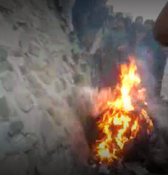 """Ferhunde'nin linç edilmesi saniye saniye kaydedildi ve görüntüler internette paylaşıldı: """"Bu da İslam düşmanlarına ibret olsun!"""""""