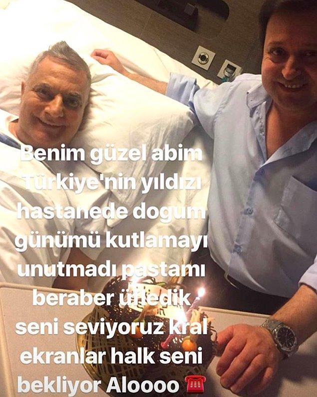 Hastanede geçen 235 günün ardından Mehmet Ali Erbil'in ilk görüntüleri gelmeye başladı. Yakın akadaşı Ercan Avşar'ın doğum gününü kutlayacak kadar iyi görünüyor Mehmet Ali Erbil.