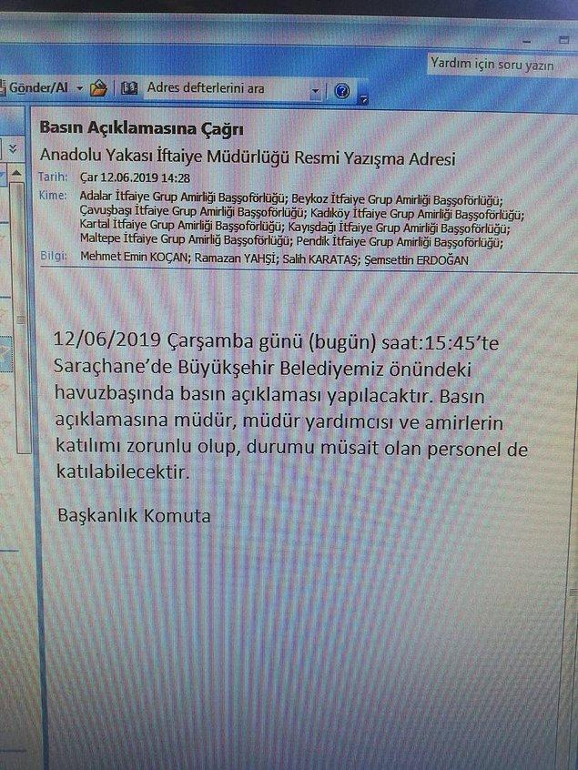 CHP İstanbul milletvekili Mehmet Bekaroğlu, o açıklamanın talimatla yapıldığını ve katılımın da zorunlu tutulduğunu iddia etti.