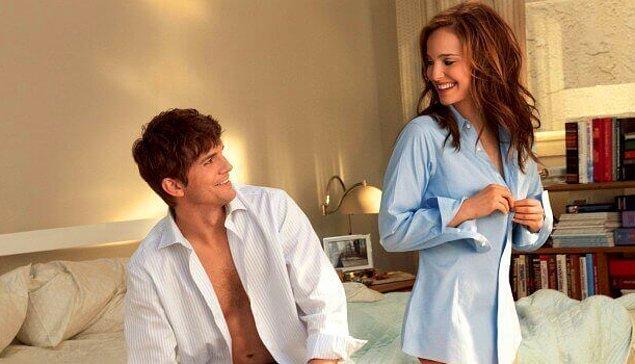 14. Ya da... Kadınların sürekli partnerlerinin gömleklerini giymesi: