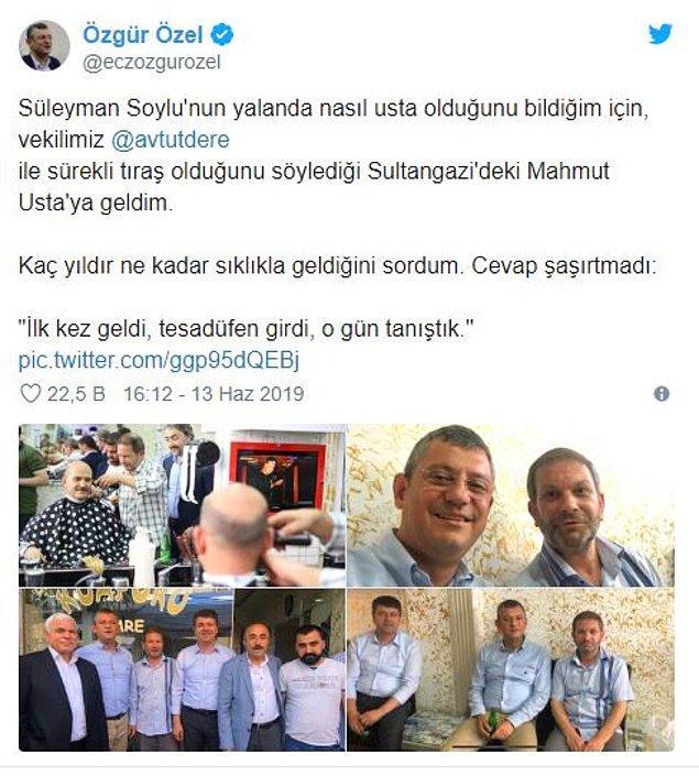 İşte CHP'li Özel'in o paylaşımı: