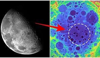 Uzayda Pek Acayip Şeyler Oluyor: Ay'daki En Büyük Kraterin Altında Gizemli Dev Bir Kütle Tespit Edildi!