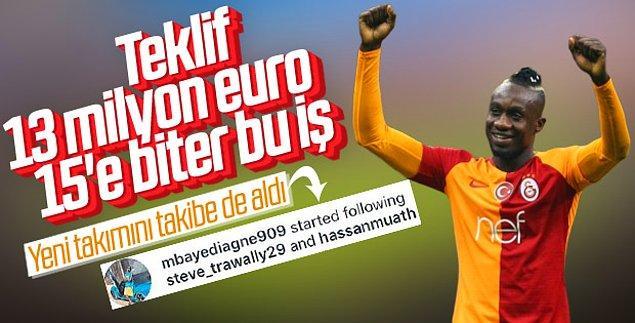 Diagne'nin sosyal medya üzerinden yaptığı bu hamle transfer iddialarını kuvvetlendirdi.