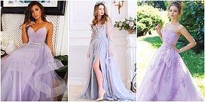 Yaz Düğünlerinin En Romantik Trendi Olan Birbirinden Güzel Lavanta Rengi Gelinlik Modelleri