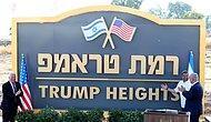 Temeli Atıldı: İsrail, Golan Tepeleri'ndeki Yeni Yahudi Yerleşim Birimine 'Trump Tepeleri' Adını Verdi