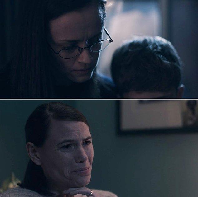 4. The Handmaid's Tale'da, Kanada'ya kaçtıktan sonra Emily, sonunda eşi Sylvia ve oğluyla bir araya geldi. Çok duygusal bir sahneydi. 😔