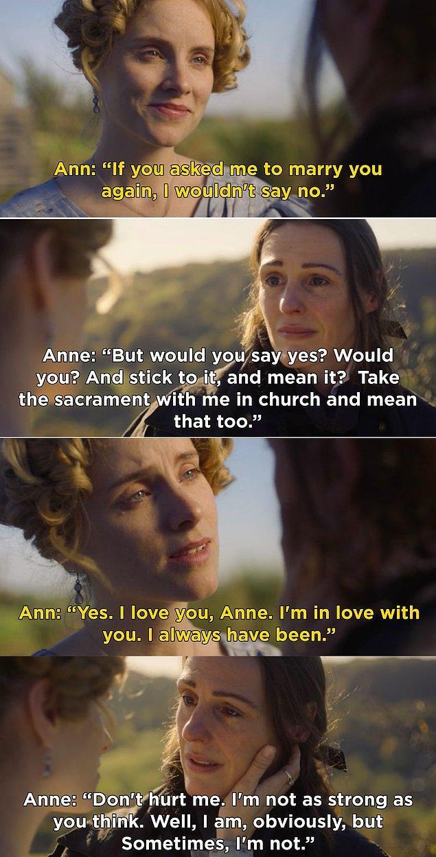 6. Gentleman Jack'in birinci sezon finalinde, Anne ile Ann kavuştu ve aslında hiç ayrı kalmak istemediklerini anladılar.