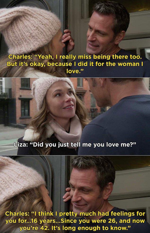 """11. Younger'ın altıncı sezonunun açılış bölümünde, Liza ve Charles birbirlerine ilk defa """"Seni seviyorum"""" dedi ve biz de hayran hayran izledik."""