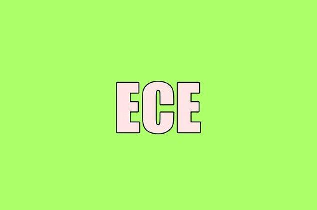 Sana gizliden gizliye aşık olan kişinin adı Ece!