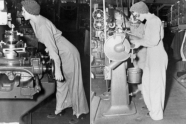 1942 yılında İkinci Dünya Savaşı devam ederken erkekler savaşa katıldıkları için fabrikalarda işgücü azalmıştı. Ve kadınlar devreye girmişti. Naomi de bir askeri hava üssünün makine kısmında çalışmaya başladı.