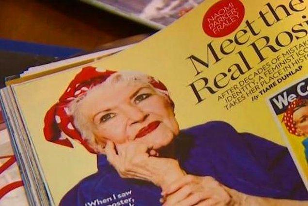 """Prof. Kimble, araştırmaları esnasında Naomi'nin başka bir fotoğrafını buldu ve izini sürerek eski gazeteler satan birine ulaştı. Satıcıdaki fotoğrafta bulunan tarih ve açıklama ise, Naomi'nin """"Roise the Riveter"""" kimliğine kavuşmasını sağladı."""