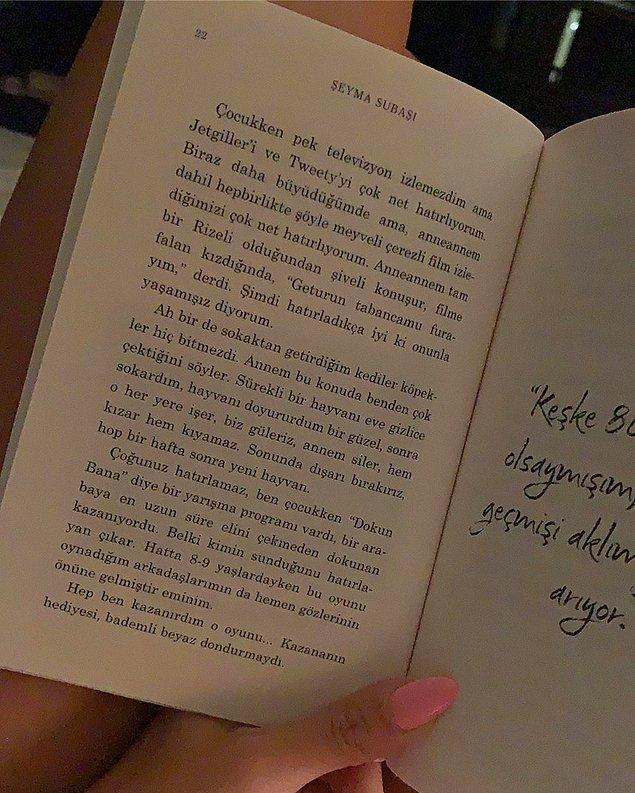 Kitabın sayfalarını yayınlayan Şeyma Subaşı'na birçok eleştiri de geldi. Şeyma, kitabı kendisinin yazmadığını ve edebiyatçı olmadığını da şu sözlerle ifade etti:
