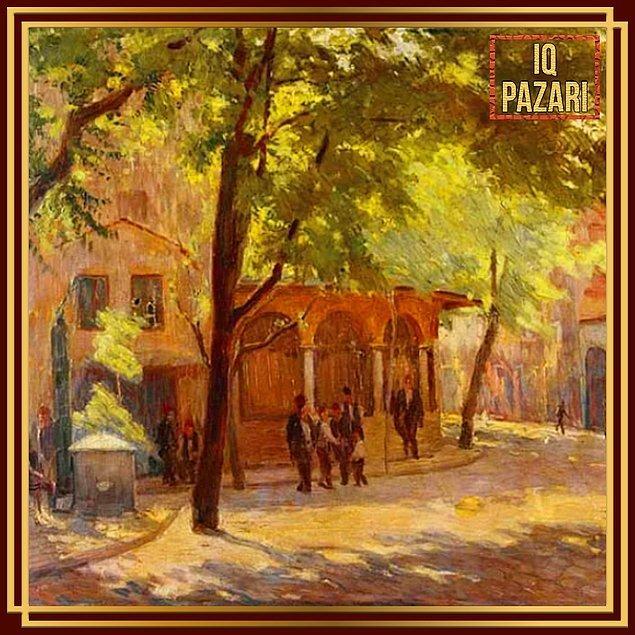 1. Nazmi Ziya Güran'ın empresyonizmin Türkiye'deki temsilcisi olarak anmamızı sağlayan meşhur tablosu: Sokak Manzarası.
