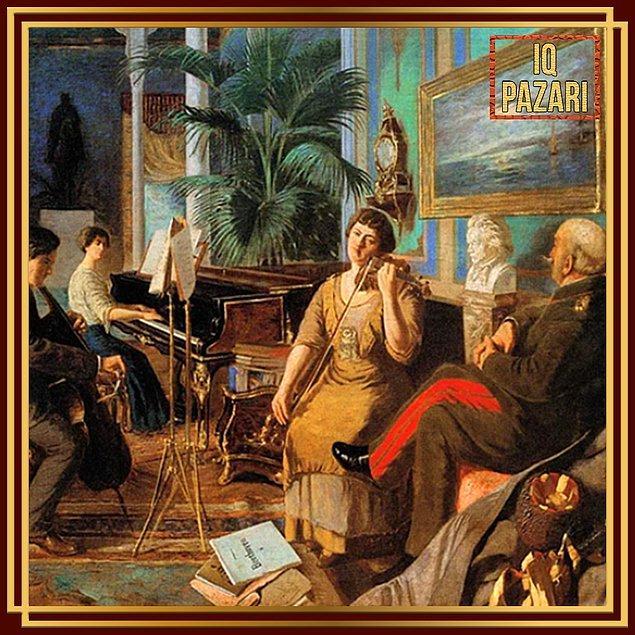 14. Haremde Beethoven eserini gördüğümüz Abdülmecid Efendi hem sanat için yaptığı çalışmalar hem de Osmanlı hanedanın bir üyesi olmasıyla tarihe geçer.