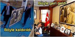 Bir Çift Mavi Gözün Işığında: Ekrem İmamoğlu İlk İş Olarak Kaldırılan Atatürk Tablosunu Makamına Yeniden Astırdı
