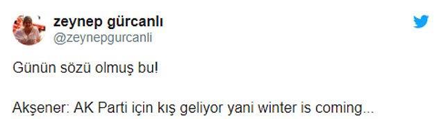 Akşener 'Winter is Coming' açıklamasıyla sosyal medyanın gündeminde...