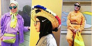 Toplumsal Normlara Meydan Okuyan, Büyüleyici ve Rengarenk Tarzı ile Moda İkonu Olan 66 Yaşındaki Başörtülü Kadın