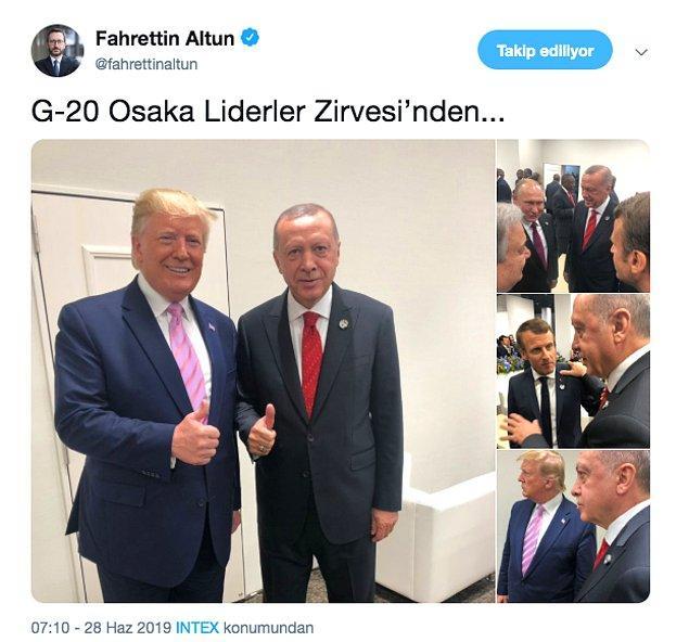 Cumhurbaşkanlığı İletişim Başkanı Fahrettin Altun, Twitter hesabından INTEX Osaka Fuar Merkezi alanından fotoğraf paylaşımında bulundu.
