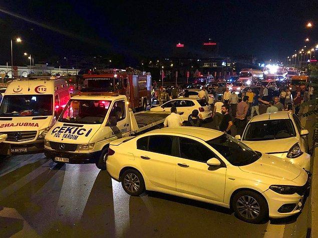 Kazayı yara almadan atlatan çift, gözaltına alınarak Hasanpaşa Polis Merkezi'ne götürüldü. Başlatılan soruşturma sürüyor.