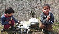 Ufaklıklarla Drone Hakkında Sohbet Eden Adamın Kaydettiği Muhteşem Görüntüler!